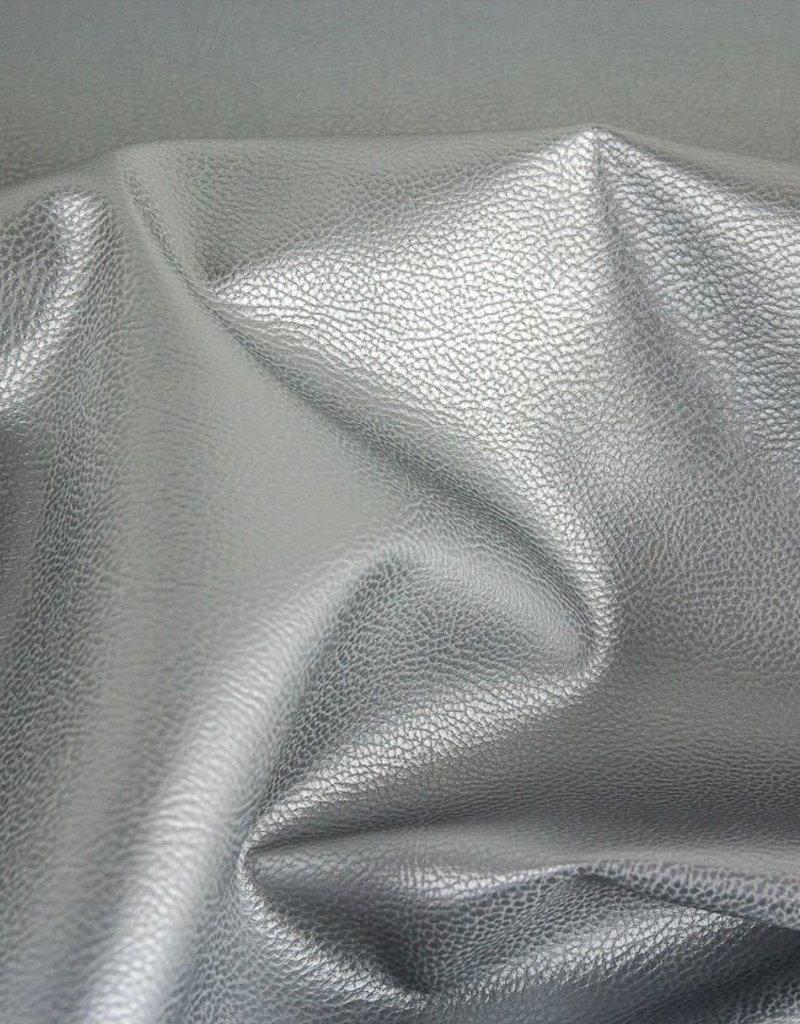 Nepleder Rex metallic zilver grijs