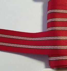 Sierlint satijn rood