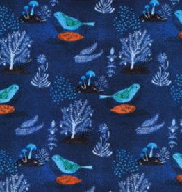 Cloud 9 Moody blues 'Pomegranate Bird Navy'