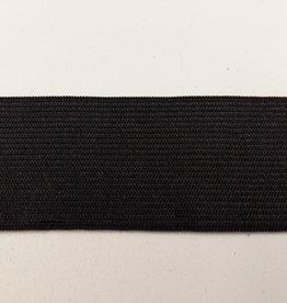 Elastiek gekleurd zwart 25 mm