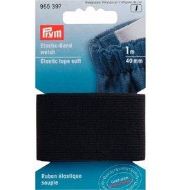 Soepel elastiek zwart 40 mm