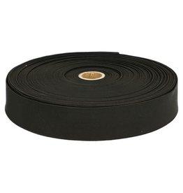 Stevig geweven elastiek  Zwart 30 mm