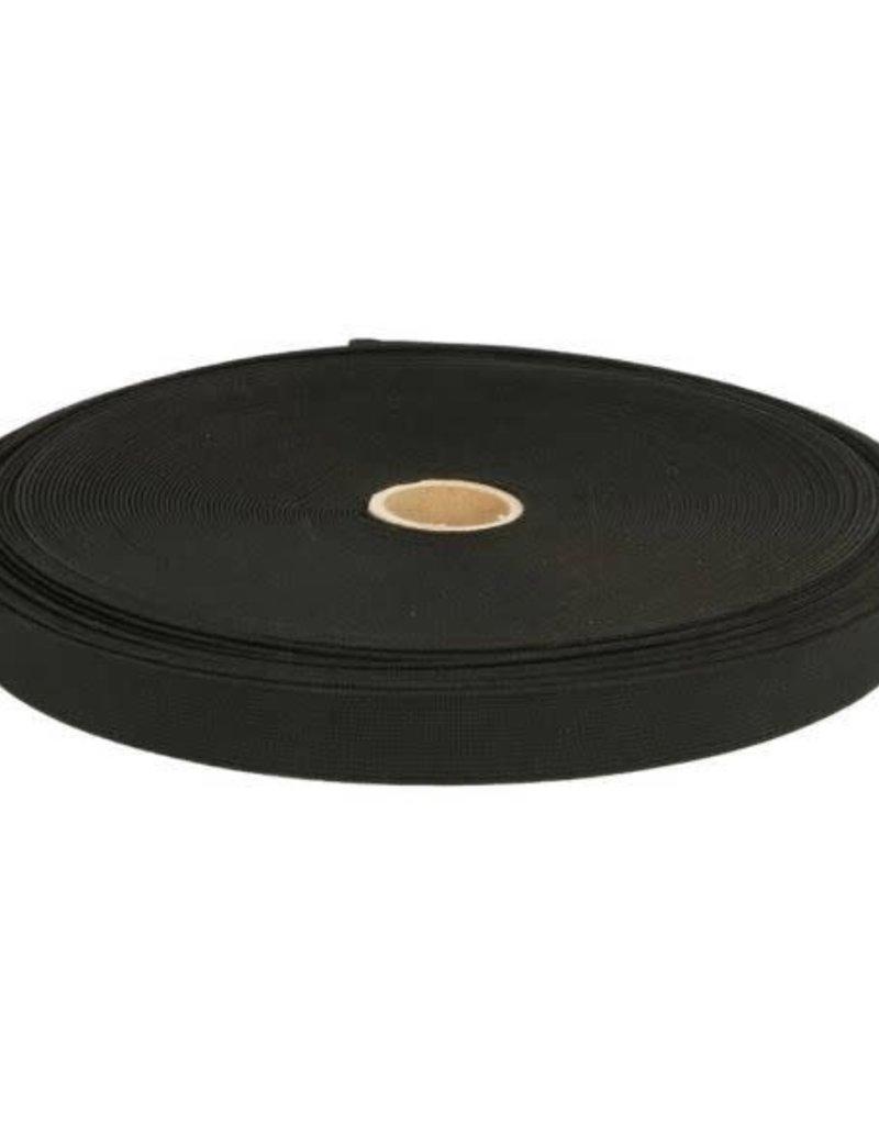 Stevig geweven elastiek  Zwart 35 mm
