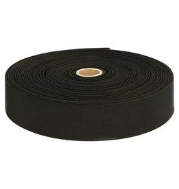 Stevig geweven elastiek  Zwart 40 mm