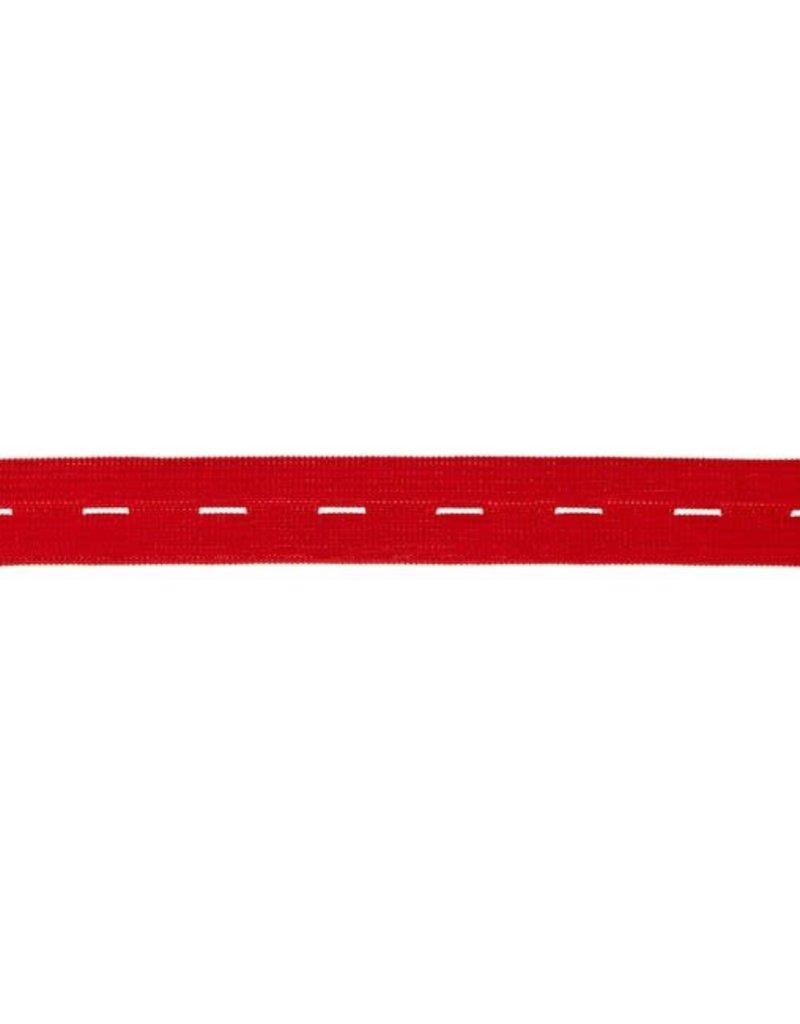 Knoopsgaten elastiek  Rood