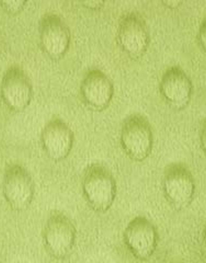 Minky dots  applegreen