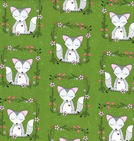 Michael Miller Little green foxes
