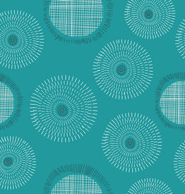 Art Gallery Fabrics AGF Pop 'Sound Bubbles Teal'