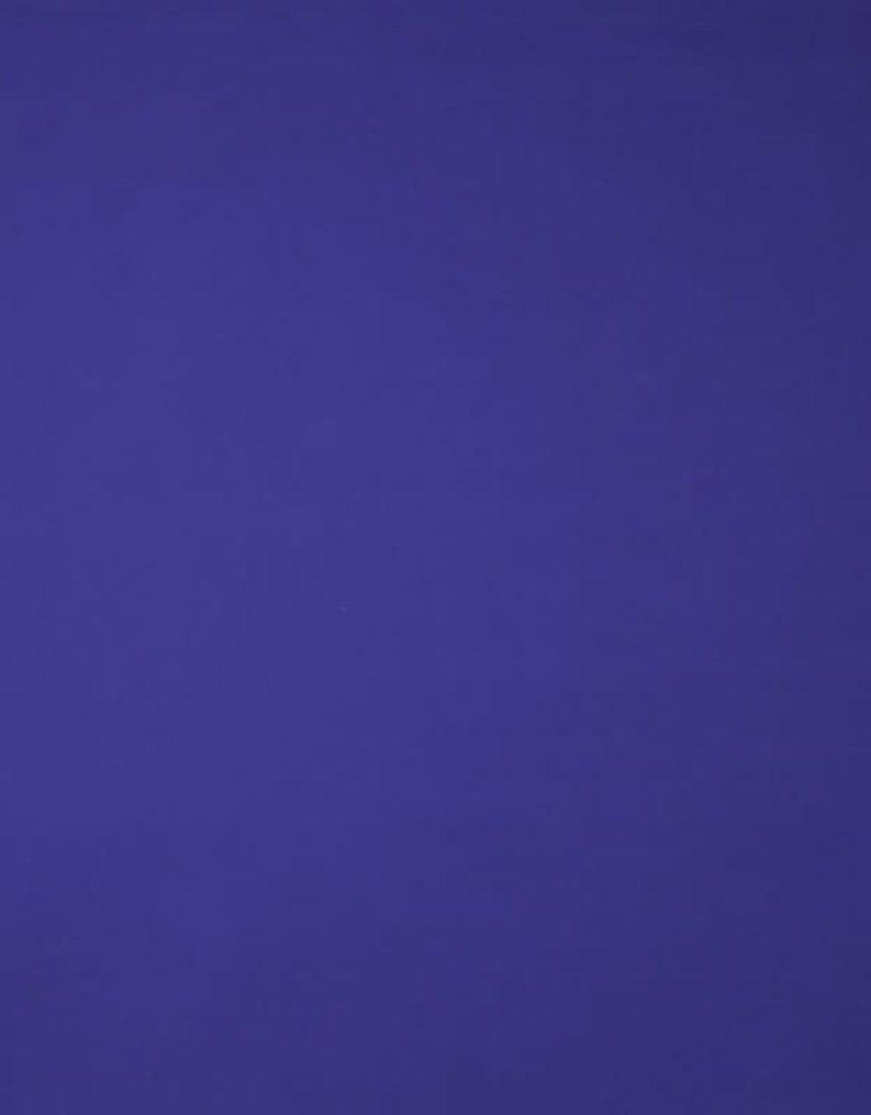 Poplin katoen uni kobalt