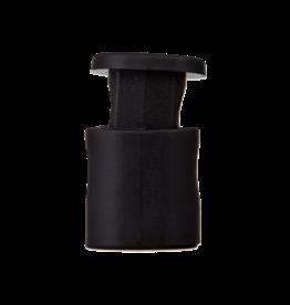 koordstopper zwart 18mm