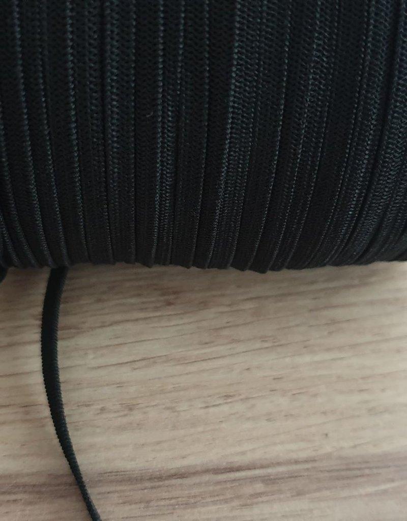 Elastiek zwart 4 mm