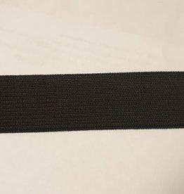 Elastiek zwart soepel 25 mm