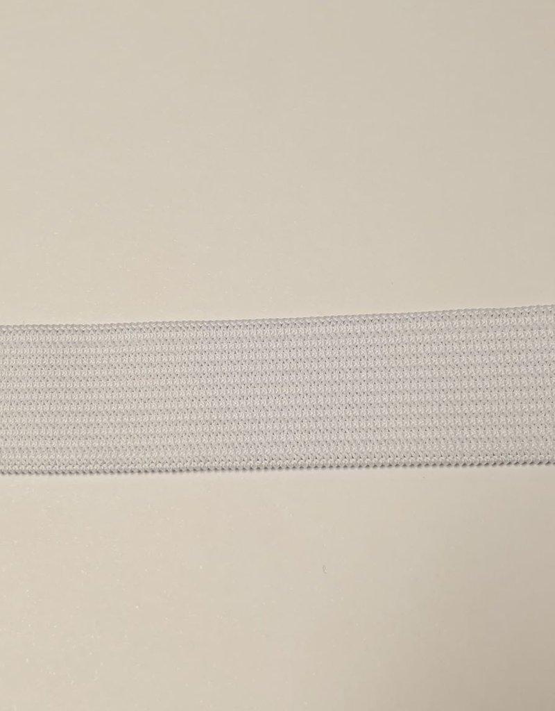 Elastiek wit soepel 20 mm