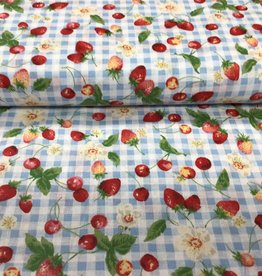 Cherries and strawberry