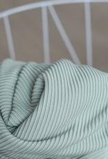 Meet Milk Self stripe ottoman knit, soft mint
