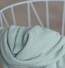 Meet Milk Self stripe ottoman knit, soft mint
