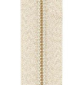 Rits zilver lurex 12 cm