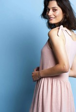 La Maison Victor Linnen tricot zalm/Coralie jurk