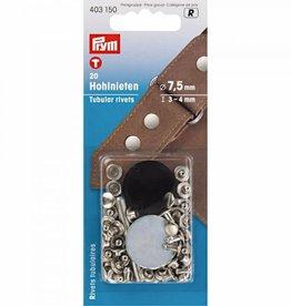 Holnieten 6-9 mm zilver