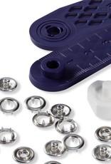 Jersey drukknoop 8 mm zilver