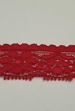 Elastische kant 25mm rood