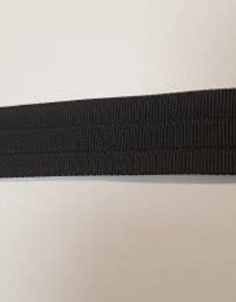 Doorstikte tassenband zwart
