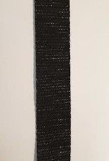 Tassenband metal zwart