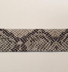 Elastiek slangenprint 40mm