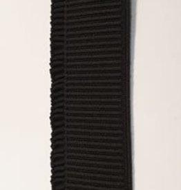 Ruche elastiek 40 mm zwart