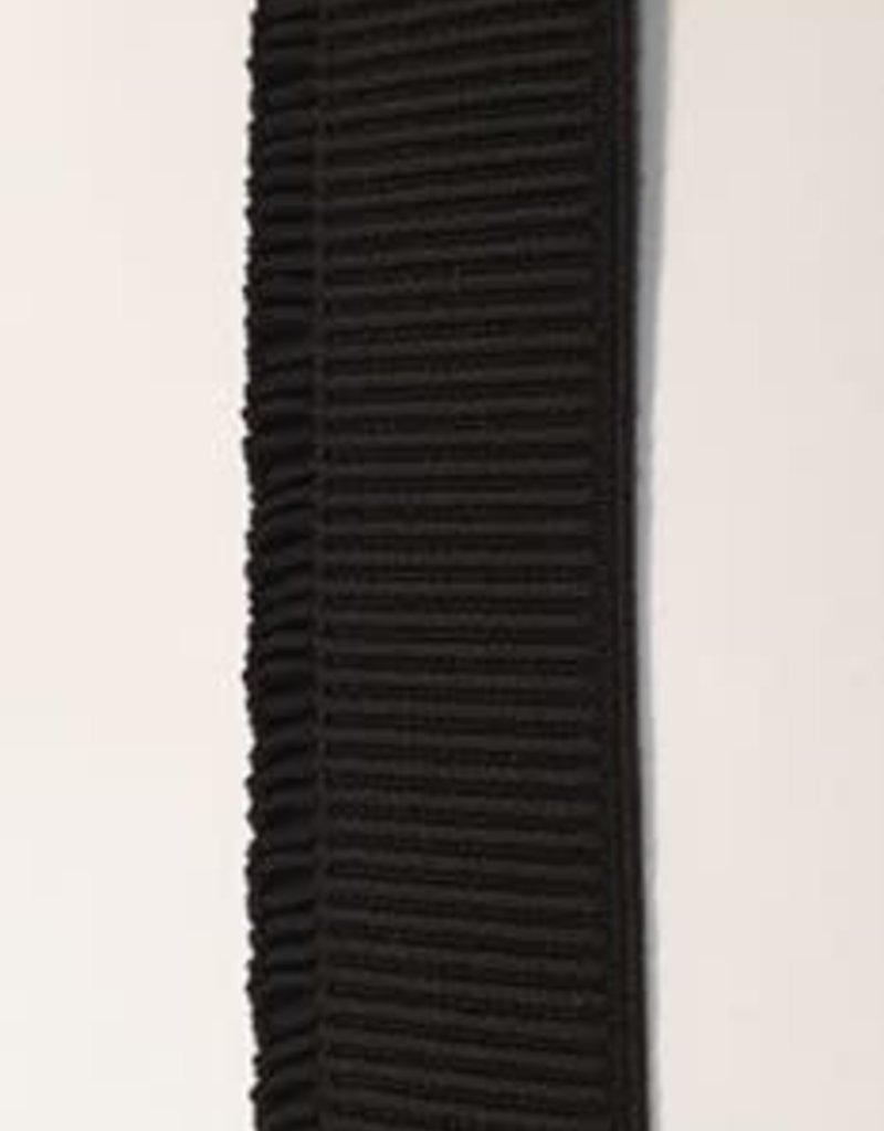 Ruche elastiek 4 cm zwart