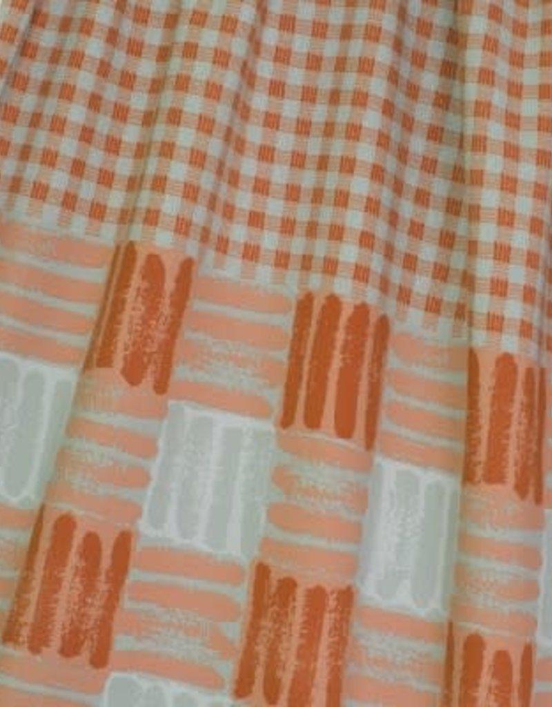 Lillestof Sweat geruit oranje