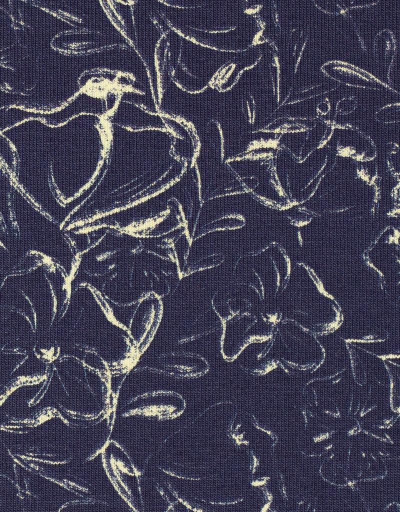 Jills Grandmas Garden mini blue