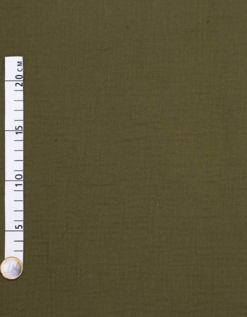 Tetra katoen  olijfgroen