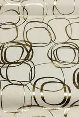 Katoen wit met gouden cirkels