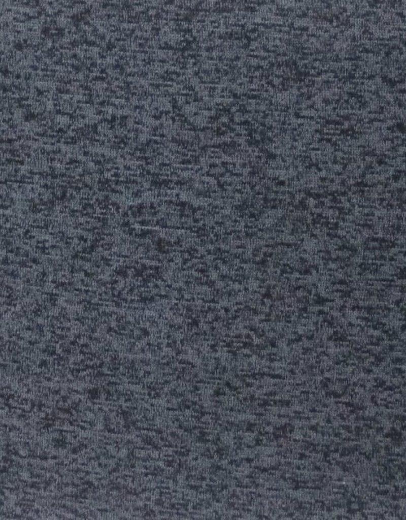 Japanese melange fleece donker blauw