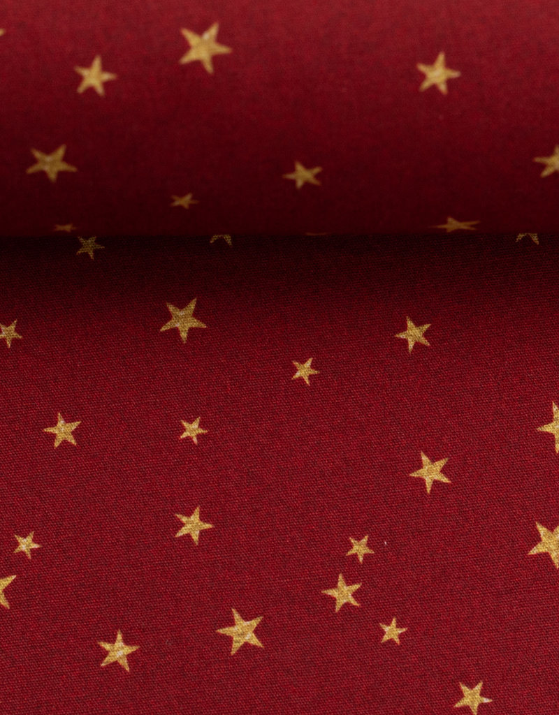 Christmas stars dark red