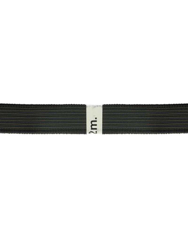 Gaaselastiek 25 mm zwart