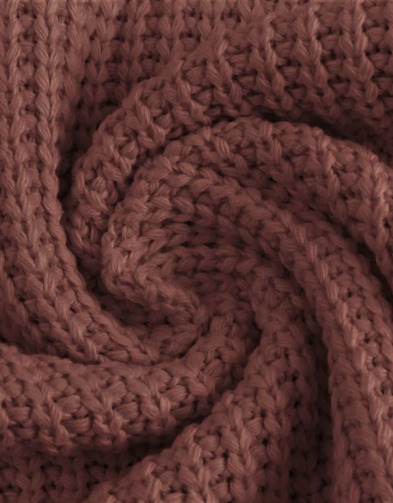 Cotton knitted cable lila