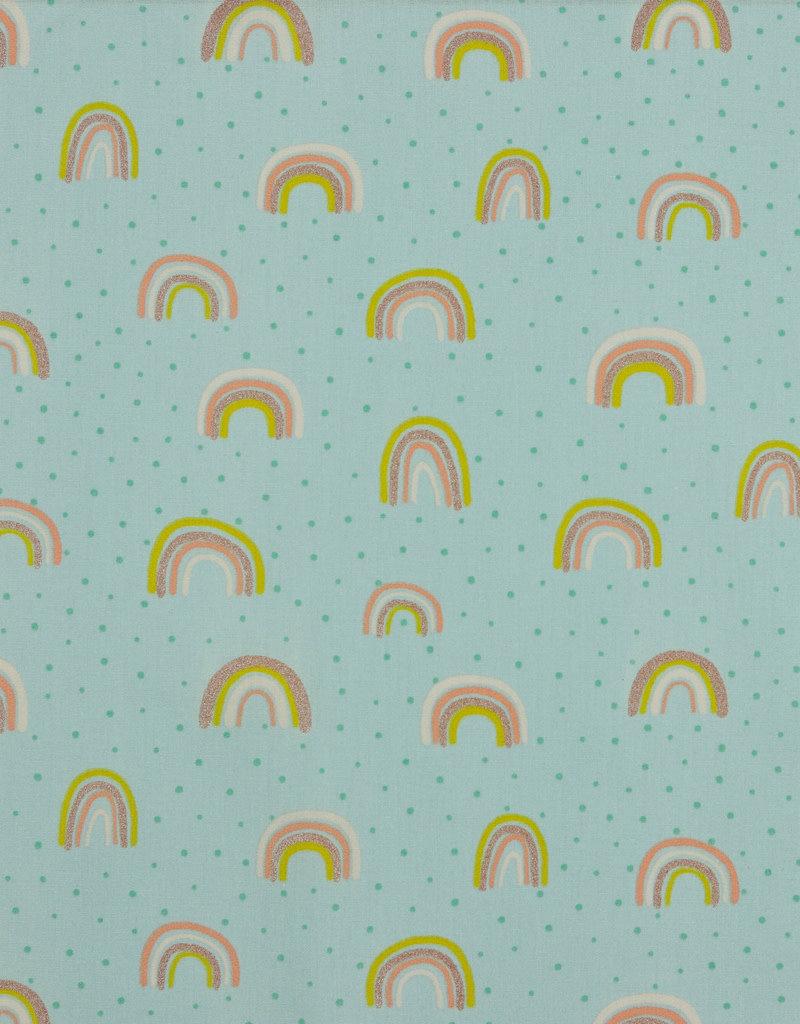 Poplin glitter rainbow