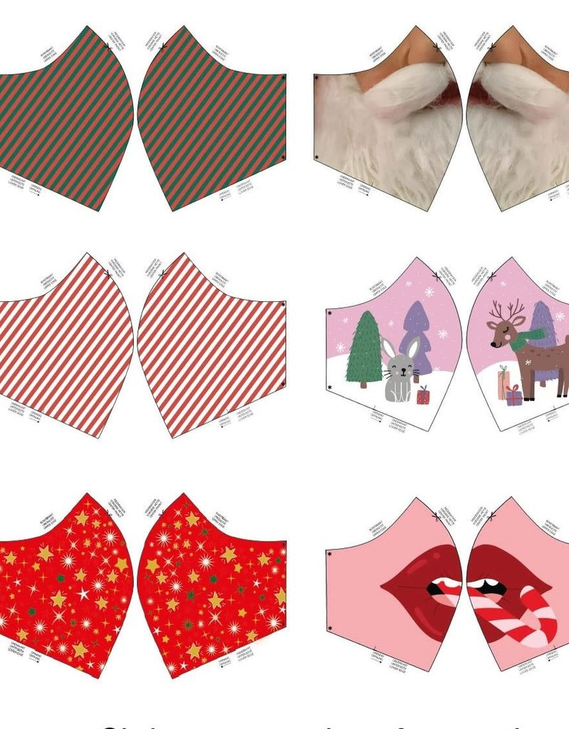 Paneel voor mondmaskers Kerstprint I