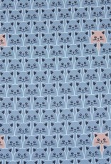 Little cats on blue
