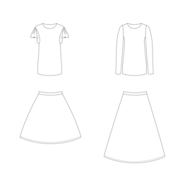Cora rok en shirt