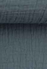 Tetra katoen blauw grijs