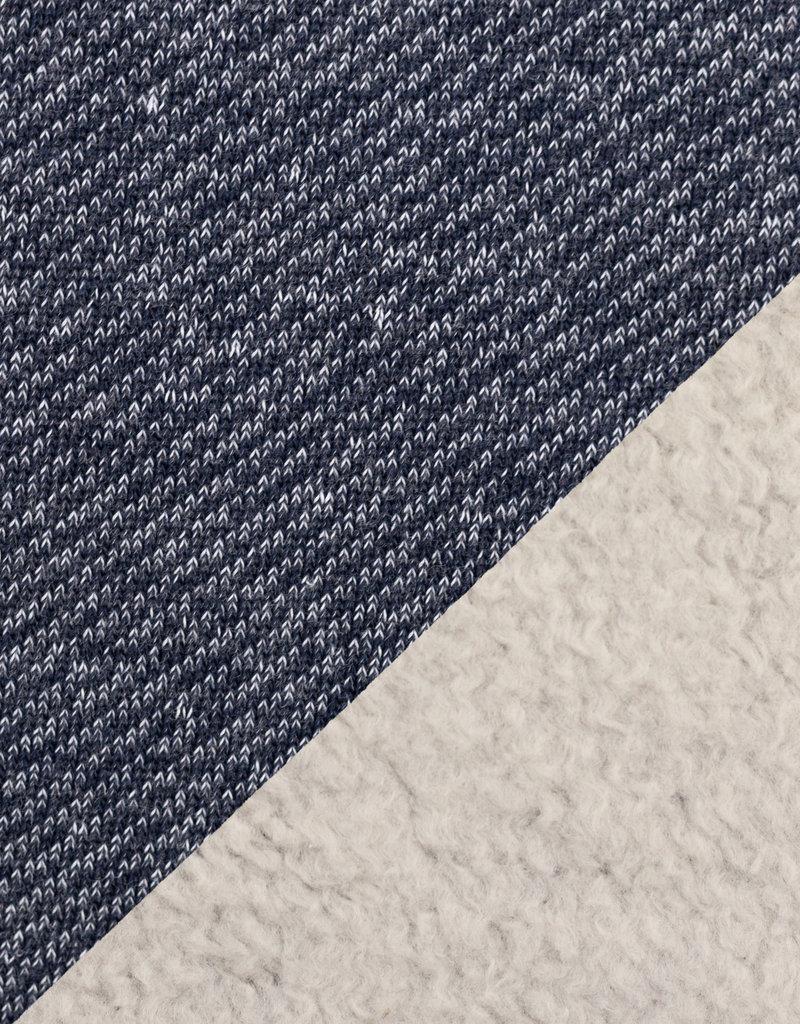 Piet sweater bordeaux donker blauw