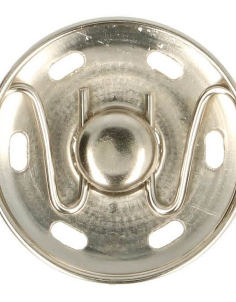 Aannaaibare drukknoop zilver
