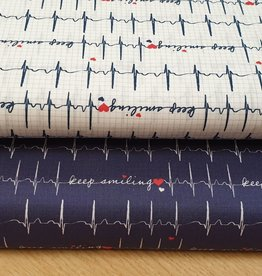 Heartbeat keep smiling  blauw tricot