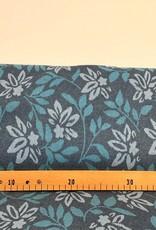 Jacquard  flower blue