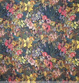 Fibre mood Marion jurk flowers crepe