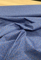 Poplin stretch flower blue
