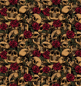 Skulls with roses